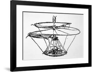 Leonardo Da Vinci Sketch of a Flying Machine
