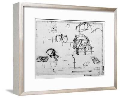 Sketch of a Perpetual Motion Device Designed by Leonardo Da Vinci, C1472-1519