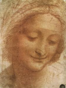Sketch of Saint Anne, 1500 by Leonardo da Vinci