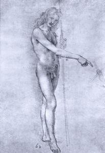 St John the Baptist, C1478 by Leonardo da Vinci