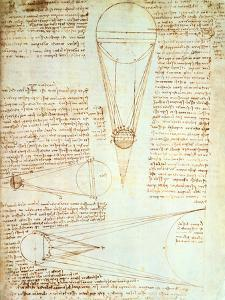 Studies of the Illumination of the Moon, Fol. 1R from Codex Leicester, 1508-1512 by Leonardo da Vinci