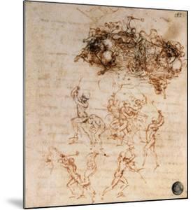 Study for the Battle of Anghiari, 1504-5 by Leonardo da Vinci
