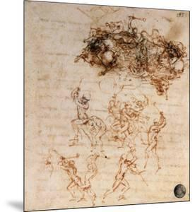 Study for the Battle of Anghiari, 1504-5 by Leonardo da Vinci