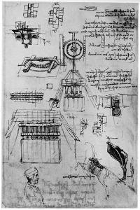 Study for the Casting of the Sforza Monument, C1493 by Leonardo da Vinci