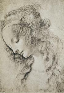 Study for the Head of Mary Magdalene by Leonardo da Vinci