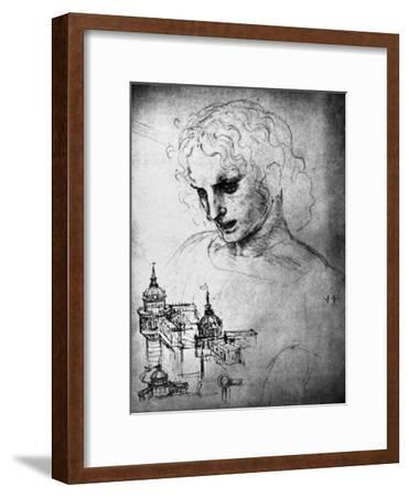 Study for the Head of St James and an Architectural Drawing, 15th Century