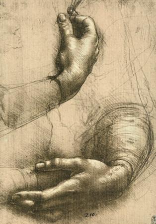Study of Female Hands, Drawing, Royal Library, Windsor by Leonardo da Vinci