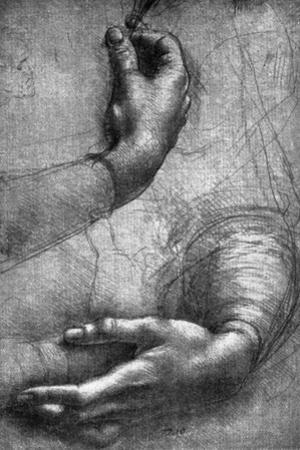 Study of Hands, 15th Century by Leonardo da Vinci