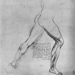 'Study of the Legs of a Man Lunging to the Right', c1480 (1945) by Leonardo da Vinci