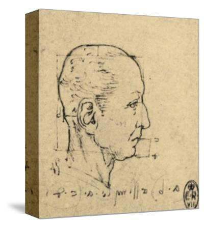 Study of the Proportions of a Human Face, Drawing, Royal Library, Windsor