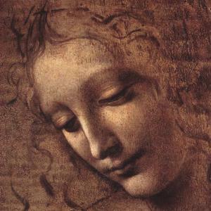 Testa di Faniciulla Detta (detail) by Leonardo da Vinci