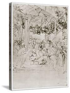The Adoration of the Kings, C1480 by Leonardo da Vinci