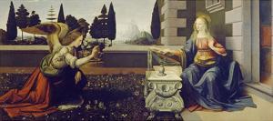 The Annunciation, ca. 1472 by Leonardo Da Vinci
