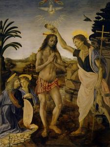 The Baptism of Christ, Ca 1470-1475 by Leonardo da Vinci