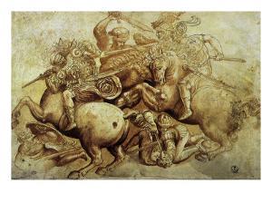 The Battle of Anghiari, 1500 by Leonardo da Vinci