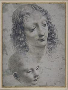 The Head of a Woman and the Head of a Baby by Leonardo da Vinci