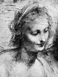 The Head of the Madonna, 15th Century (1930) by Leonardo da Vinci