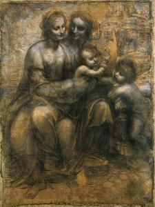 The Virgin and Child with Saint Anne and Saint John the Baptist, C1500 by Leonardo da Vinci