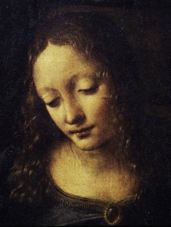 The Virgin of the Rocks Detail of Virgin