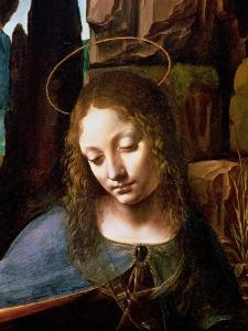 The Virgin of the Rocks (The Virgin with the Infant Saint John Adoring the Infant Christ ) by Leonardo da Vinci