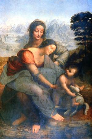 Virgin and Child with St Anne, 1502-1516 by Leonardo da Vinci