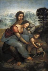 Virgin and Child with St by Leonardo da Vinci