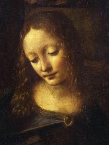 Virgin, from the Virgin of the Rocks, 1483-86, Detail by Leonardo da Vinci