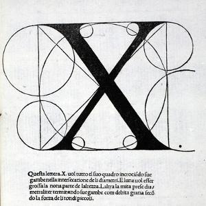 X, Illustration from 'Divina Proportione' by Luca Pacioli (C.1445-1517), Originally Pub. Venice,… by Leonardo da Vinci