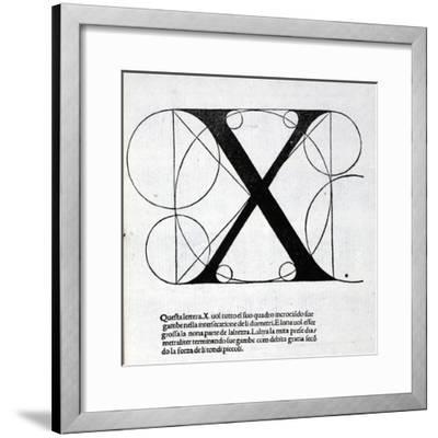 X, Illustration from 'Divina Proportione' by Luca Pacioli (C.1445-1517), Originally Pub. Venice,…