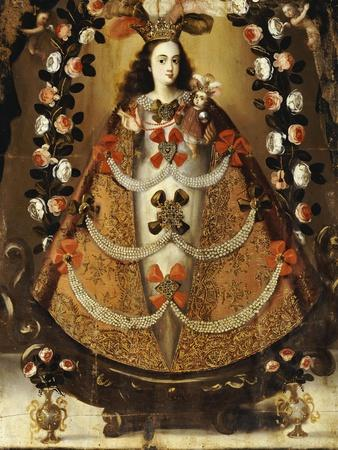 The Virgin of Pomata, School of la Paz, 17th Century