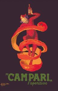 Campari L'Aperitivo (Campari Aperitif) - Clown Wrapped in Orange Peel by Leonetto Cappiello