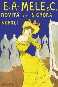 Emiddio and Alfred Mele Clothing Company - New to Naples, Italy (Novità Per Signora Napoli) by Leonetto Cappiello