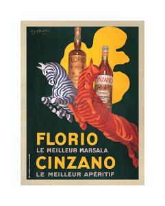 Florio e Cinzano 1930 by Leonetto Cappiello