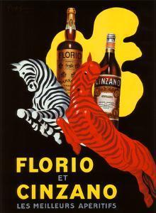 Florio et Cinzano Apertifs by Leonetto Cappiello