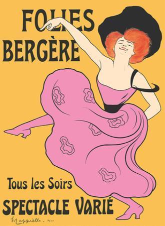 Folies Bergère - Paris, France - Every Evening a Varied Show (Tous les soirs spectacle varié) by Leonetto Cappiello