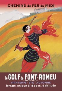 Le Golf De Fon-Romeu by Leonetto Cappiello