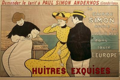 Poster Advertising Oyster Sale, 1901 by Leonetto Cappiello