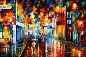 City Under Rain by Leonid Afremov