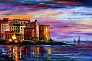 Italy Liguria by Leonid Afremov