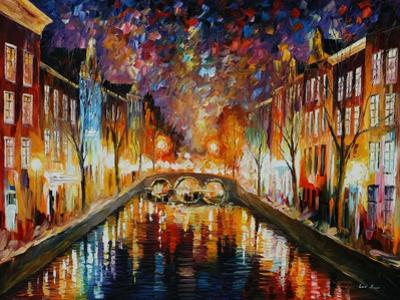 Night Amsterdam by Leonid Afremov