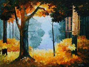 Pine Wood by Leonid Afremov