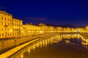 Embankment of Pisa in the Evening - Italy by Leonid Andronov