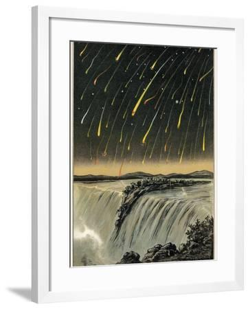 Leonid Meteor Shower of 1833, Artwork-Detlev Van Ravenswaay-Framed Photographic Print
