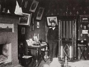 Russian Author Anton Chekhov in His Studio, Yalta, Crimea, Russia, 1901 by Leonid Sredin