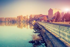 Fantastic Sunny Day on the Lake. Ternopil, Ukraine, Europe. Beauty World. Retro Style Filter. Insta by Leonid Tit