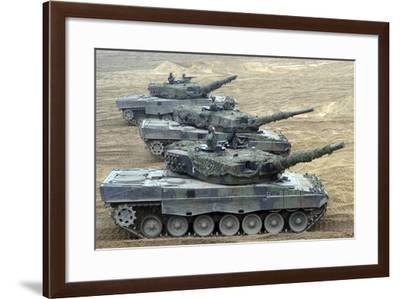Leopard 2A4 Main Battle Tanks of the Polish Army-Stocktrek Images-Framed Photographic Print