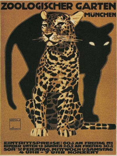 Leopard and Panther, Munich Zoo--Art Print