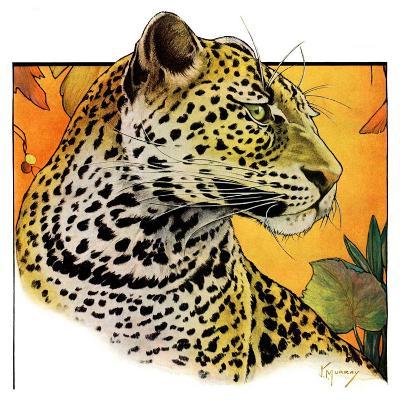 """Leopard,""August 29, 1931-Jack Murray-Giclee Print"