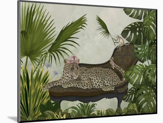 Leopard Chaise Longue-Fab Funky-Mounted Art Print
