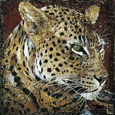 Leopard Portrait-Fabienne Arietti-Art Print
